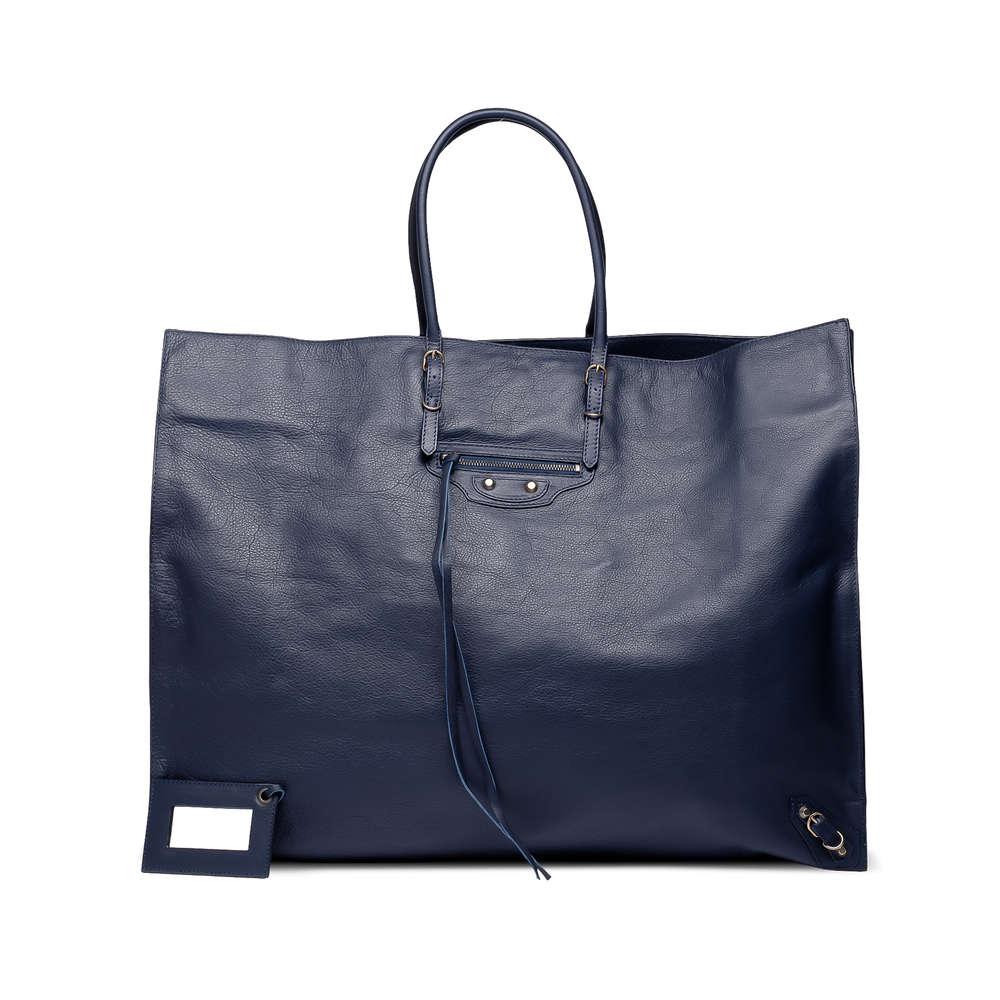 Balenciaga Blue Royal Calfskin Papier Handbag