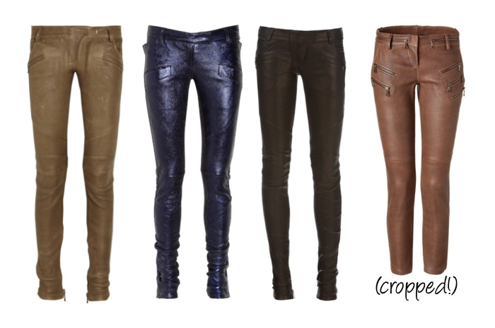 Balmain Leather Trousers