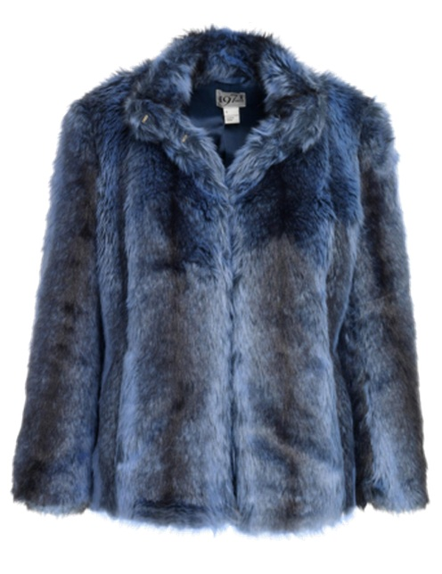 Reiss Jillie Navy Faux Fur Jacket - Girl in the LensGirl in the Lens