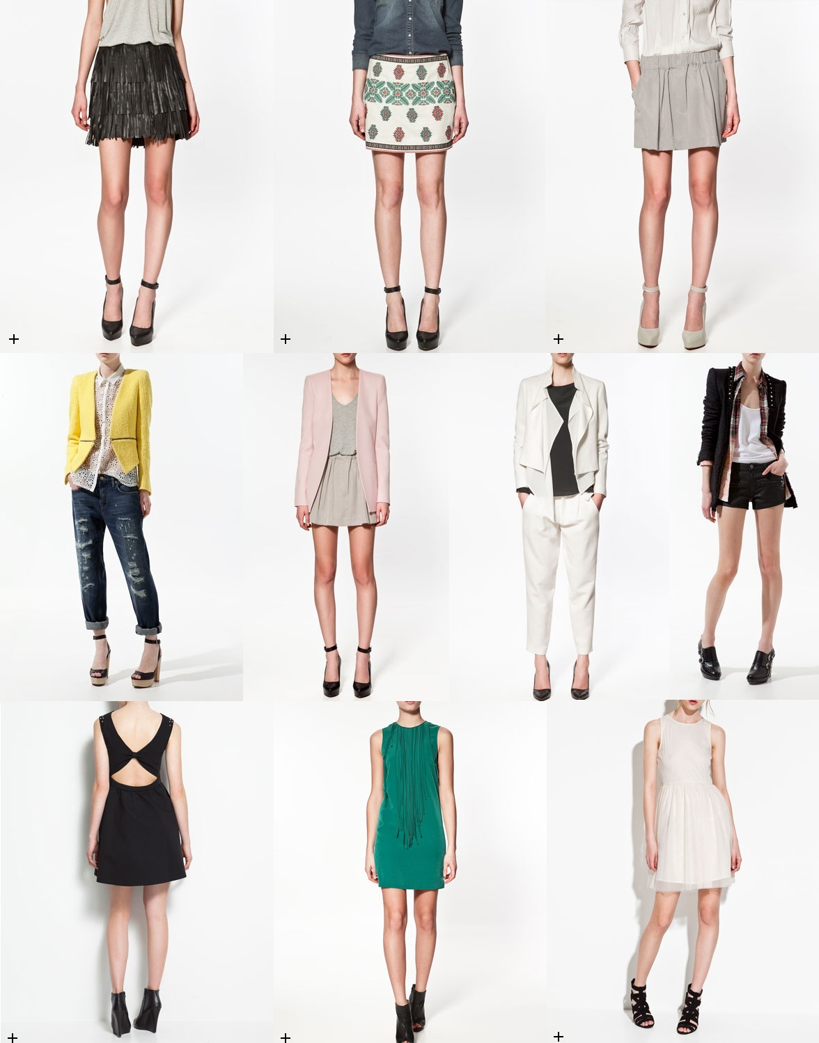 Zara SS12 collection - skirts, jackets and dresses
