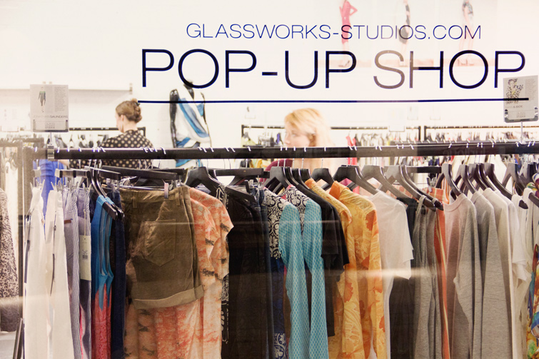 Glassworks Studios pop-up shop