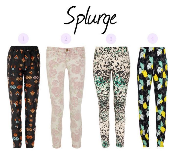 Printed pants - designers