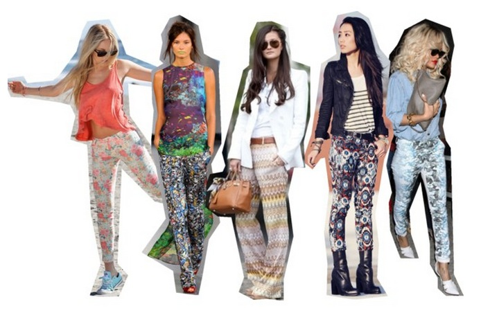 Printed pants - bloggers, designers and celebrities