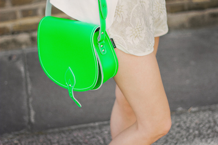 Neon green Zatchels bag
