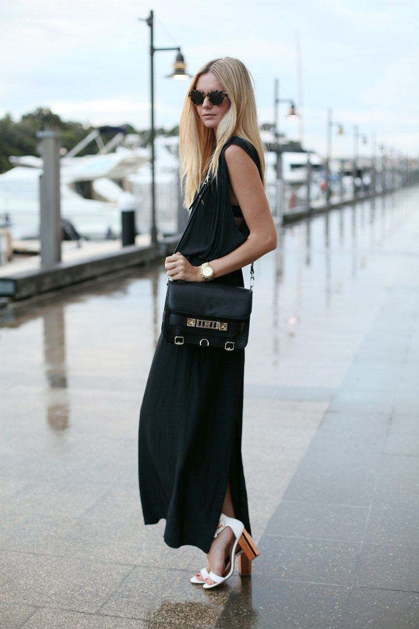 Jessica Stein from Tuula - black maxi dress