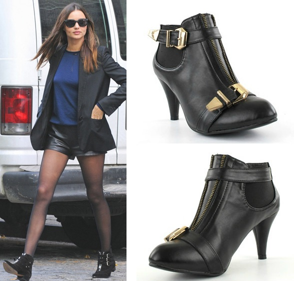 sale retailer release date recognized brands Miranda Kerr Buckle Ankle Boots - Girl in the LensGirl in ...