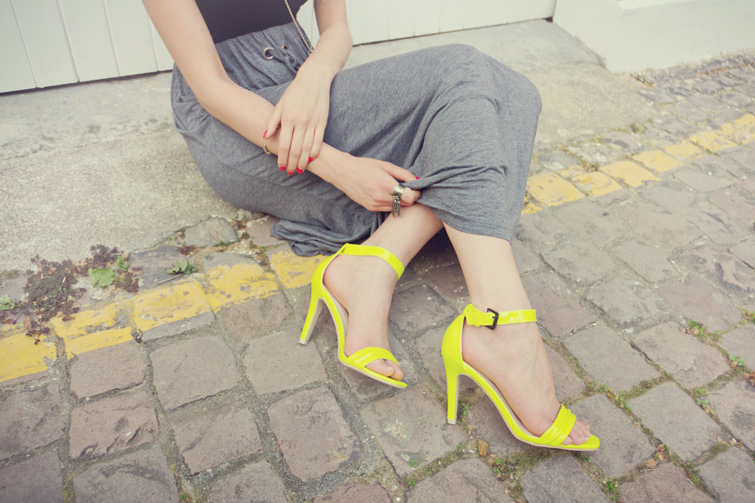 Neon yellow heels from Nelly.com