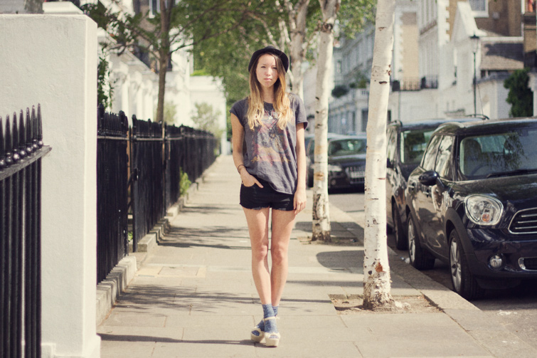 T shirt and shorts outfit
