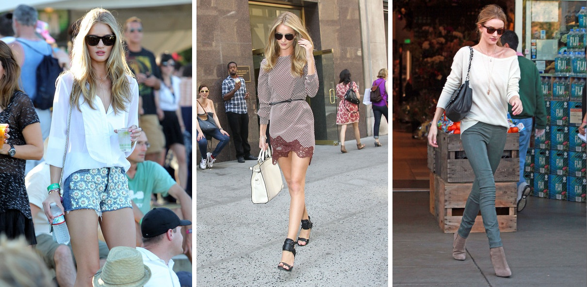 Rosie Huntington-Whiteley summer outfits