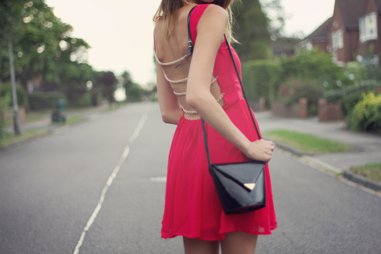 Backless dress date outfit