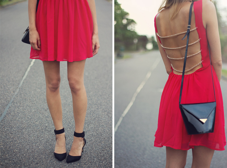 Rare skater dress with chain strap back