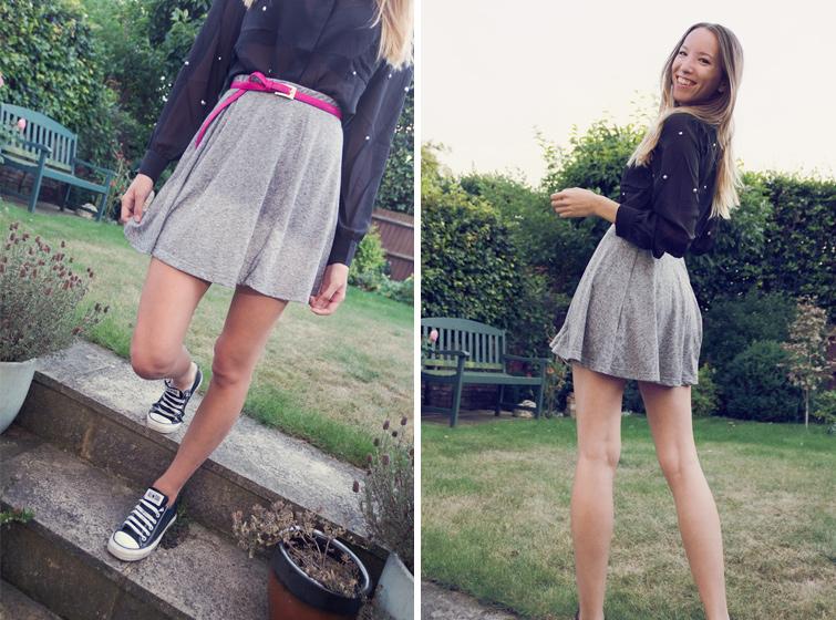 Skater skirt outfit