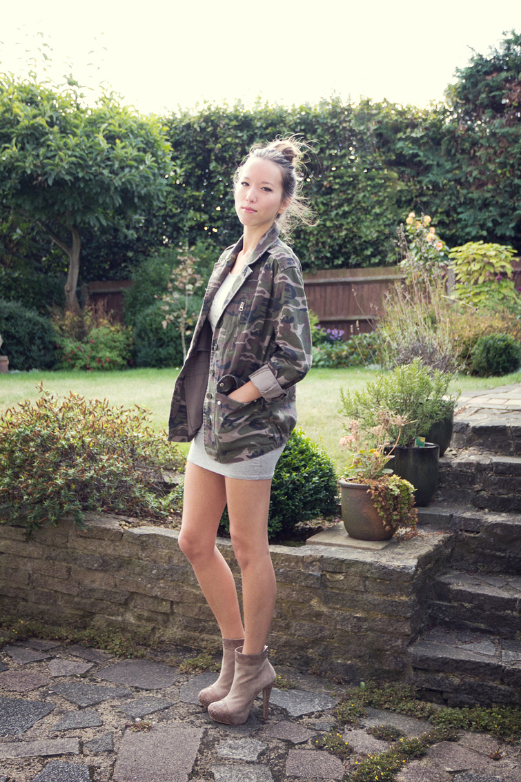 Topshop military camo jacket