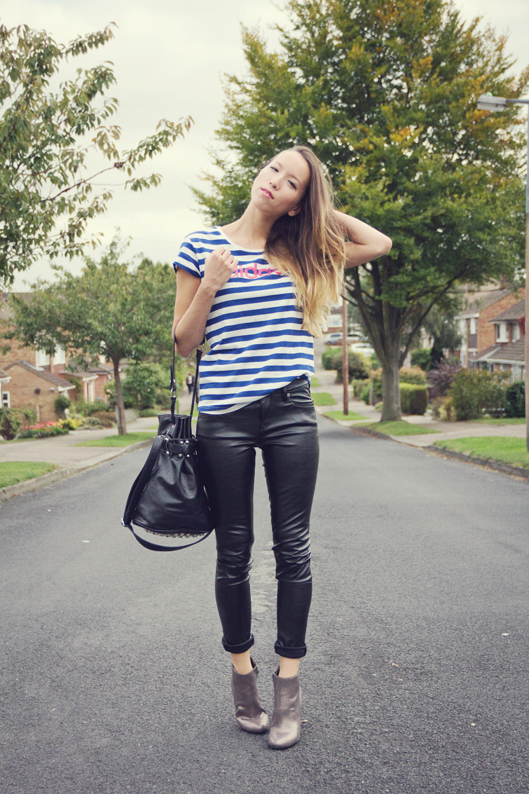 Leather trousers outfit
