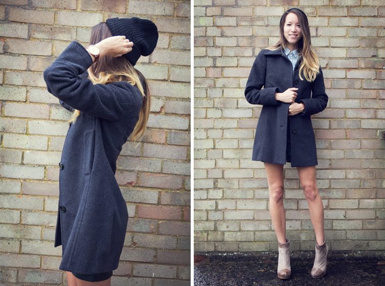 Grey winter coat