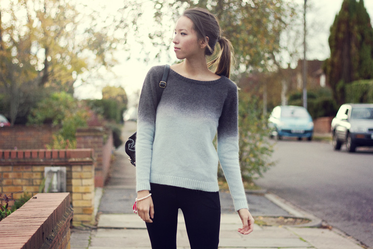 Ombre knit jumper