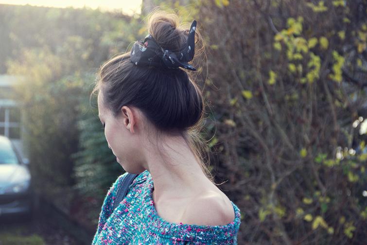 Hair scarf bun