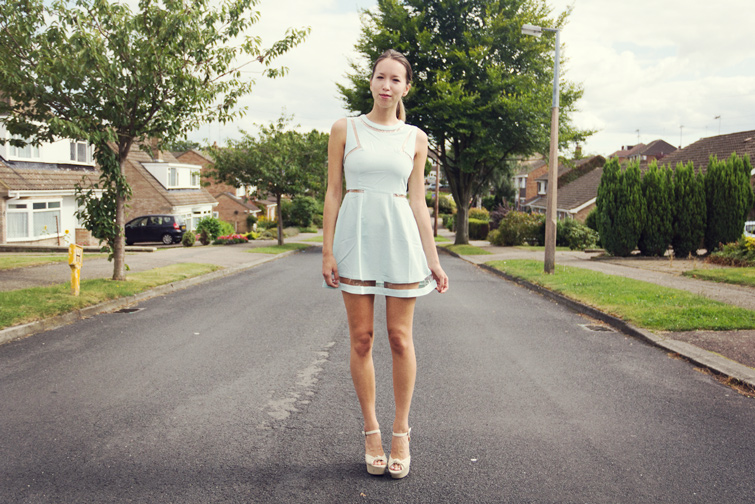 Pastel coloured dress