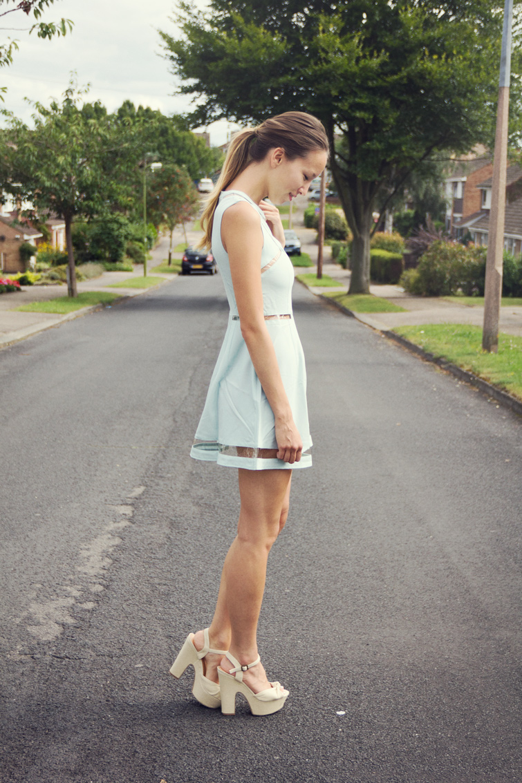 Mint blue dress
