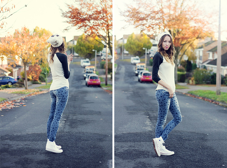 White high-top Converse outfit