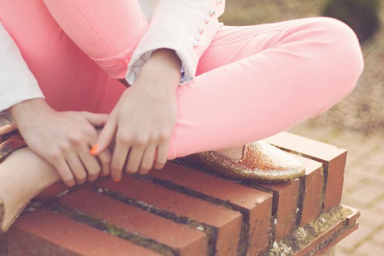 JuJu glitter slippers
