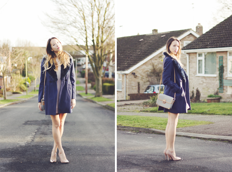 Blue statement coat
