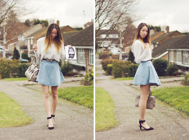 American Apparel denim circle skirt lookalike