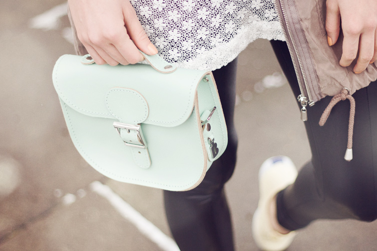Britstitch pastel leather satchel