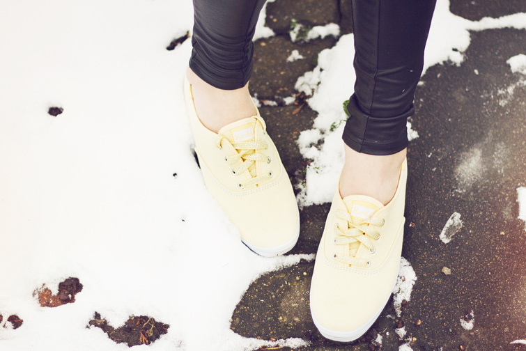 Yellow pastel sneakers Keds