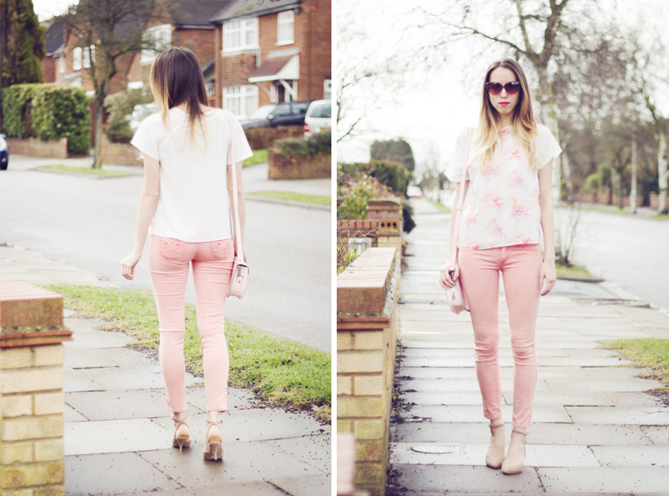 How to style pink jeans