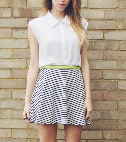 Stripy skirt