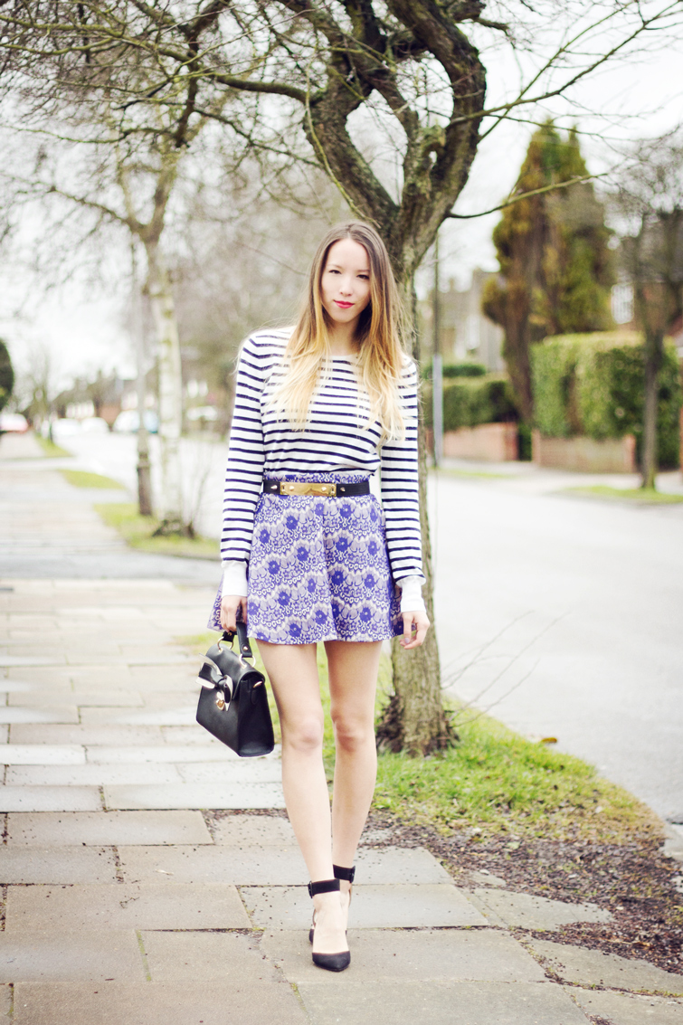Mixed prints outfit