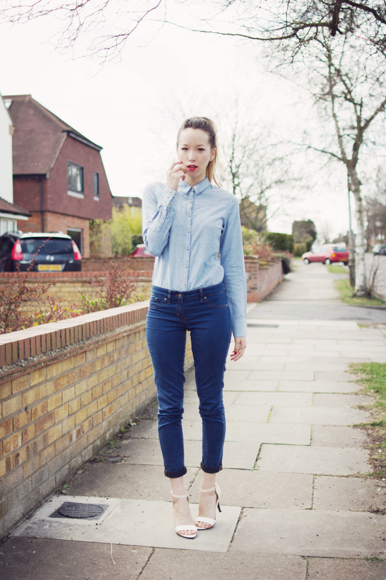Double denim outfit