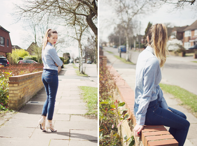 Denim shirt outfits for women