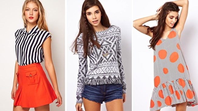 ASOS stripes spots and patterned tops dresses