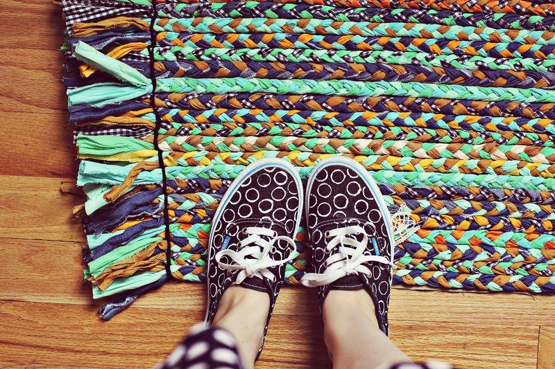 Patterned rug DIY