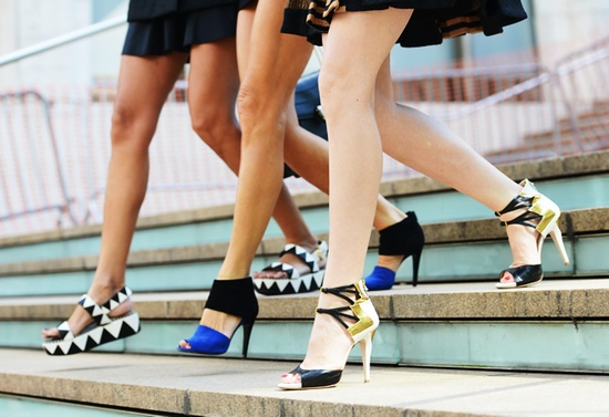 Patterned shoes flaforms heels