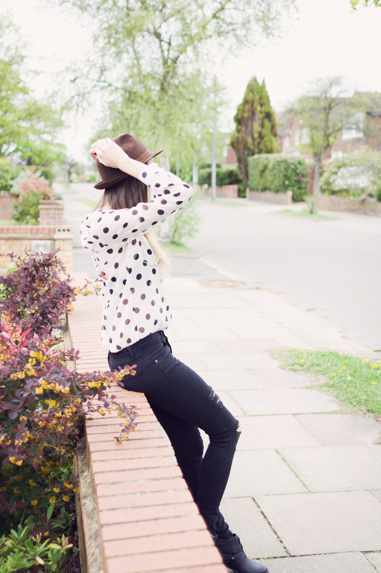 Polkadot sheer blouse shirt Tesco