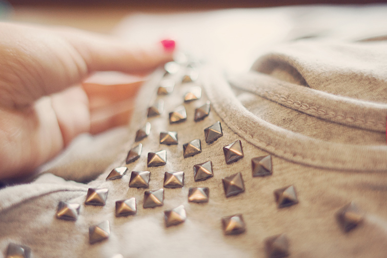How to make studded dress
