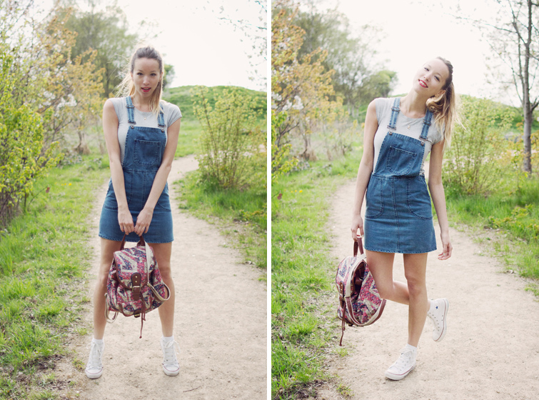 Dungaree dress festival style