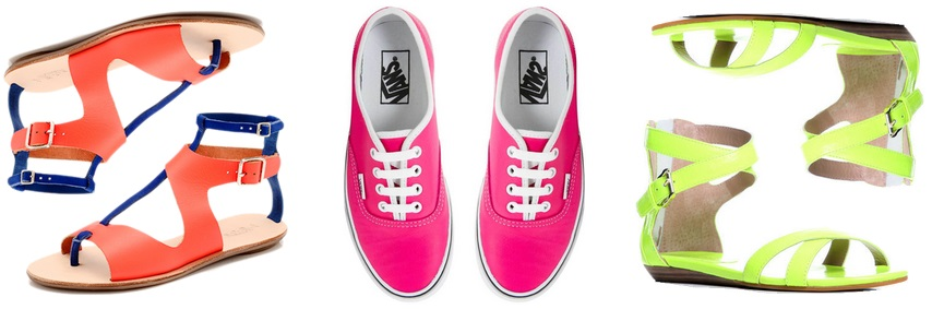 Neon shoes - Loeffler Randall, Vans, Rebecca Minkoff