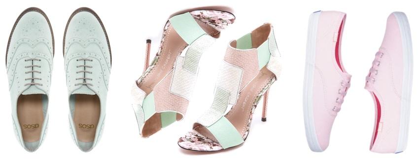 Pastel shoes - ASOS, Jean-Michel Cazabat, Keds