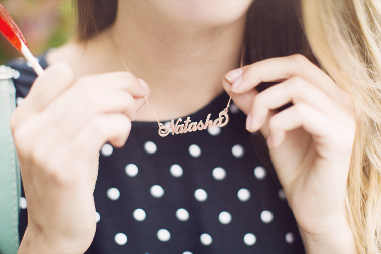 Anna Lou name necklace