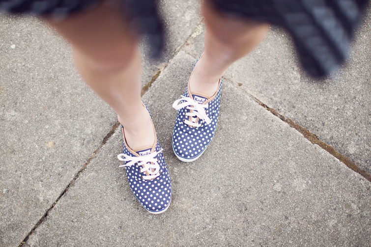 Keds polka dot spotty sneakers