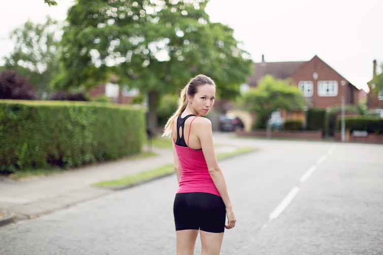 Girl in the Lens running