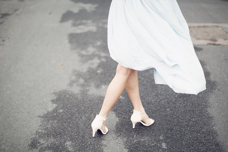 Ankle strap white nude heels Zara copy