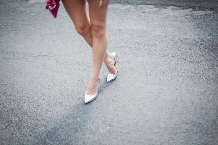 Silver pointed heel stilettos