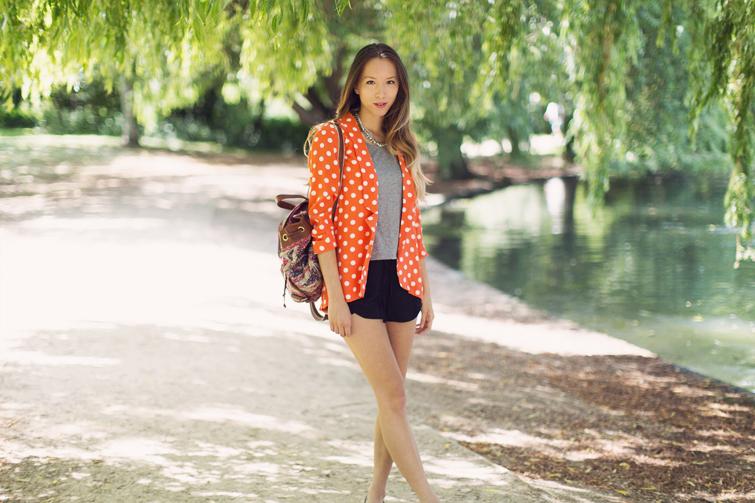 Orange blazer outfits