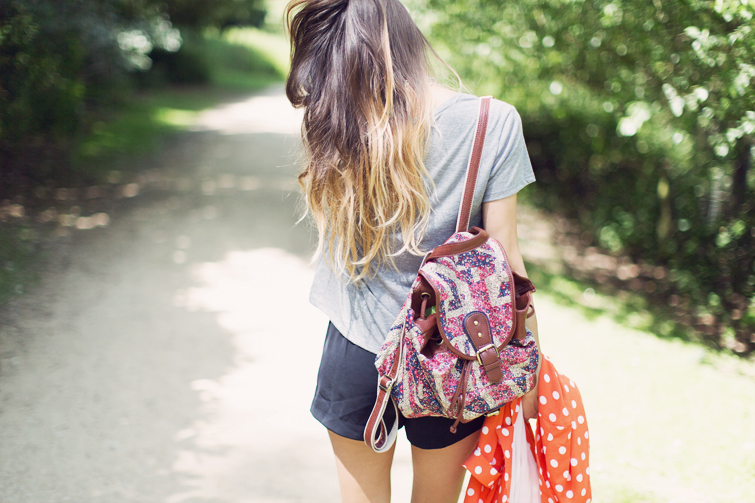 Union Jack print backpack