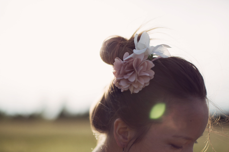 Flower hair bun wedding ideas
